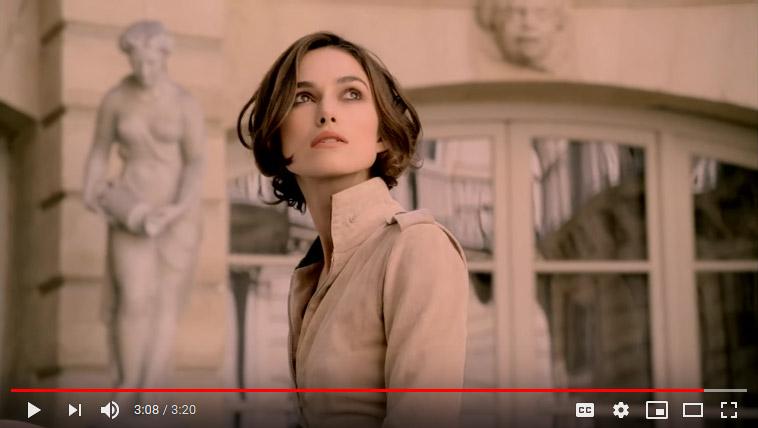 ویدئو تبلیغاتی عطر شنل کوکو مادمازل در یوتیوب